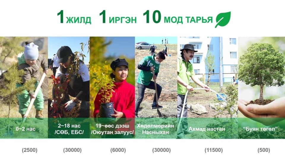 """Дарханчууд """"ТЭРБУМ МОД"""" үндэсний хөдөлгөөнд нэгдэж 2032 он хүртэл 20 сая мод тарих зорилт дэвшүүллээ"""