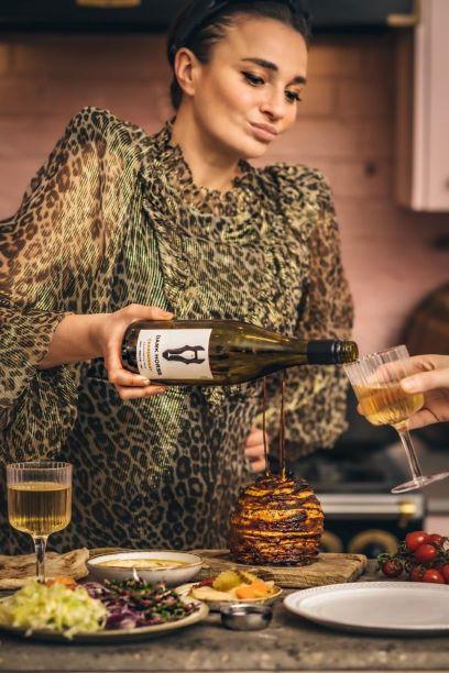 Dark Horse Chardonnay with Celeriac Shawarma