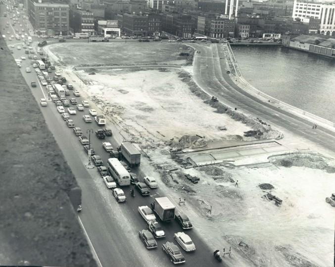 The harbor, pre-Promenade. (Dick Stacks/Baltimore Sun file dated June 1954)