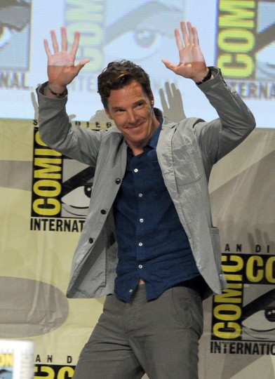 Actor Benedict Cumberbatch attends the DreamWorks Animation presentation during Comic-Con International 2014 at the San Diego Convention Center on July 24, 2014 in San Diego, California. (Kevin Winter/Getty Images)