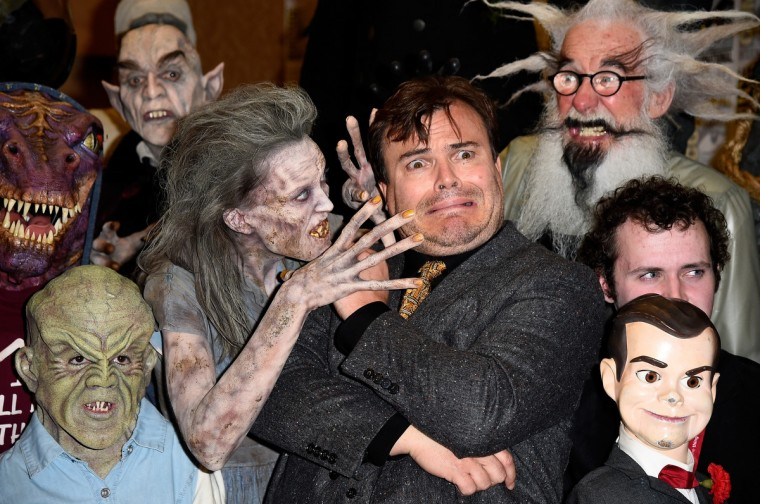 """Actor Jack Black attends Sony Pictures Entertainment's """"Goosebumps"""" and """"Pixels"""" panel with Jack Black during Comic-Con International 2014 at Hilton Bayfront on July 24, 2014 in San Diego, California. (Frazer Harrison/Getty Images)"""