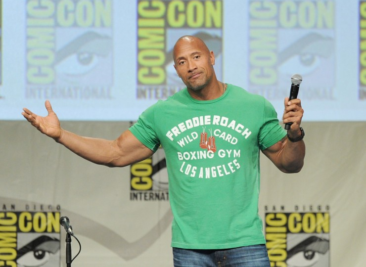 Actor Dwayne Johnson attends the Paramount Studios presentation during Comic-Con International 2014 at the San Diego Convention Center on July 24, 2014 in San Diego, California. (Kevin Winter/Getty Images)