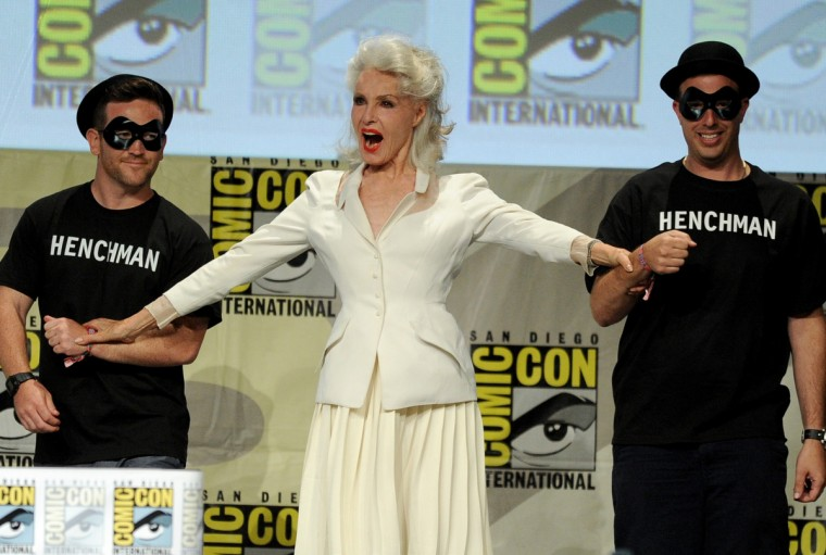 "Actress Julie Newmar (C) attends the ""Batman: The Complete Series"" DVD release presentation during Comic-Con International 2014 at the San Diego Convention Center on July 24, 2014 in San Diego, California. (Kevin Winter/Getty Images)"