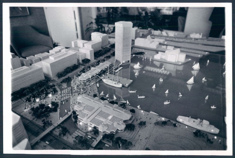 Rouse Co. Harborplace diorama. (Richard Childress/Baltimore Sun file photo dated April 1979)