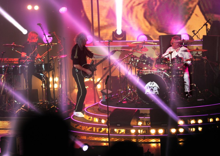 The rock band Queen performs at the Merriweather Post Pavilion. (Algerina Perna/Baltimore Sun)
