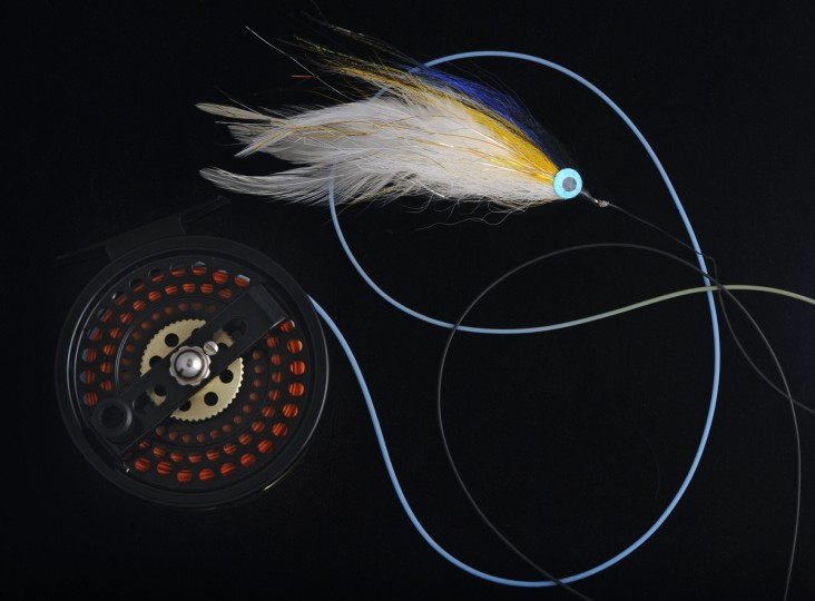 A Lefty's Deceiver is pictured with a Billy Pate Bonefish reel. (Kenneth K. Lam/Baltimore Sun)