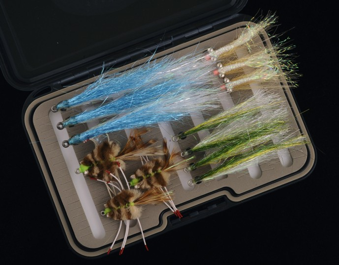 Pictured are an assortment of saltwater flies. (Kenneth K. Lam/Baltimore Sun)