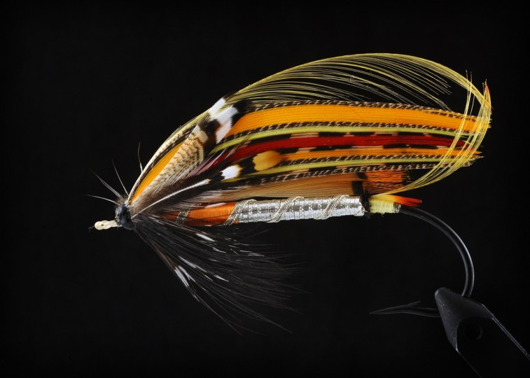 This is a display fly used for decoration. This fly is simply too pretty to use for fishing. (Kenneth K. Lam/Baltimore Sun)