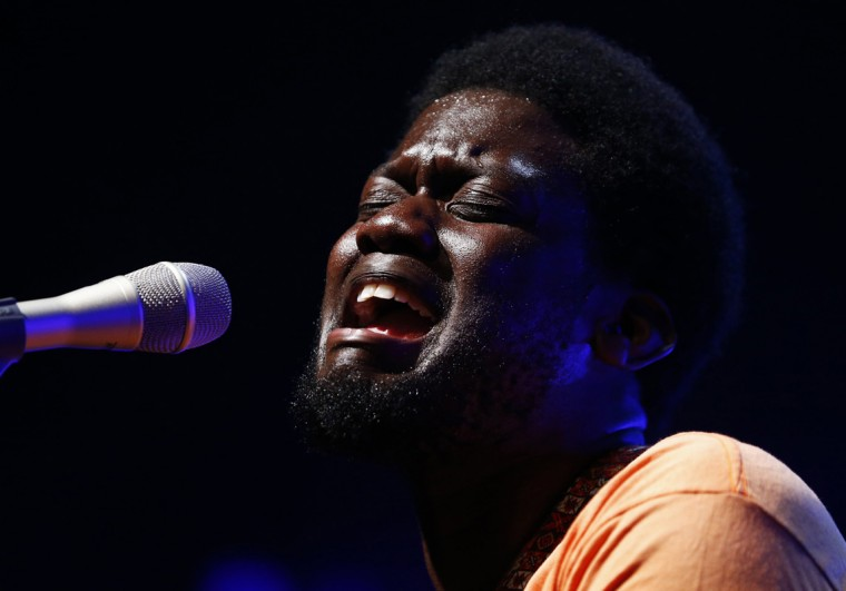 British singer Michael Kiwanuka performs during the 48th Montreux Jazz Festival in Montreux July 17, 2014. (Denis Balibouse/Reuters)