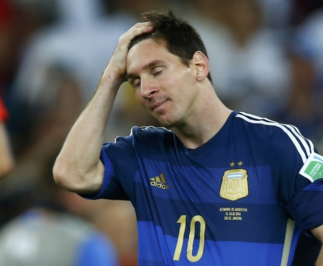 Argentina's Lionel Messi reacts after losing to Germany in their extra time in their 2014 World Cup final at the Maracana stadium in Rio de Janeiro July 13, 2014. (Eddie Keogh/Reuters)