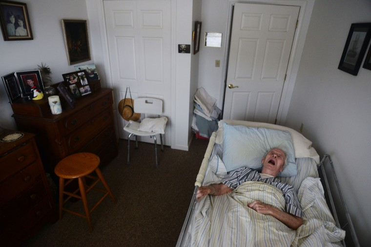 Eleanor Barnard didn't want to put Roger Barnard in a nursing home or be away from him. She felt it was important for her to take care of him to the best of her abilities. Roger passed away in their apartment May 2013. Rachel Woolf/Baltimore Sun