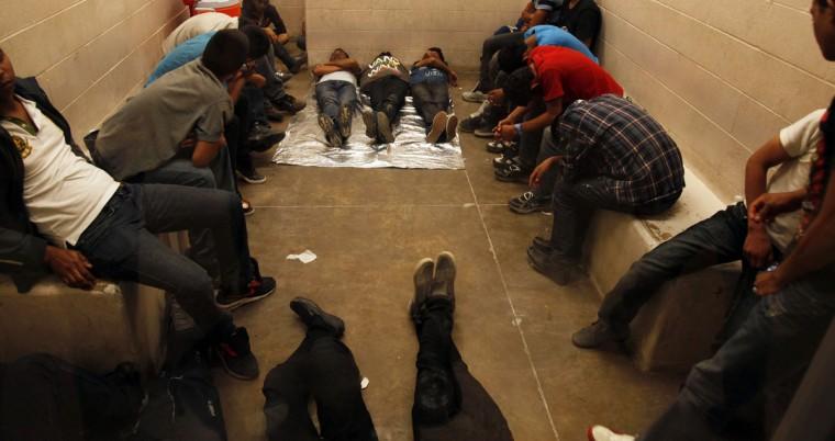 Inside the McAllen Border Patrol Station in McAllen, Texas July 15, 2014. (Rick Loomis//Reuters/Getty)