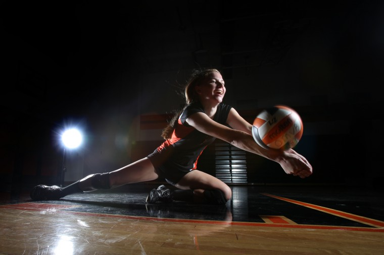 Allie Cable, Oakland Mills volleyball, August 2012