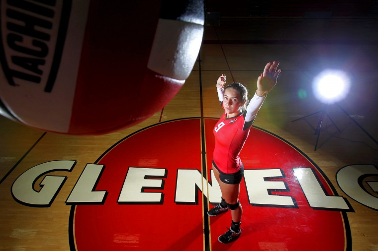 Morgan Perry, Glenelg volleyball, August 2013