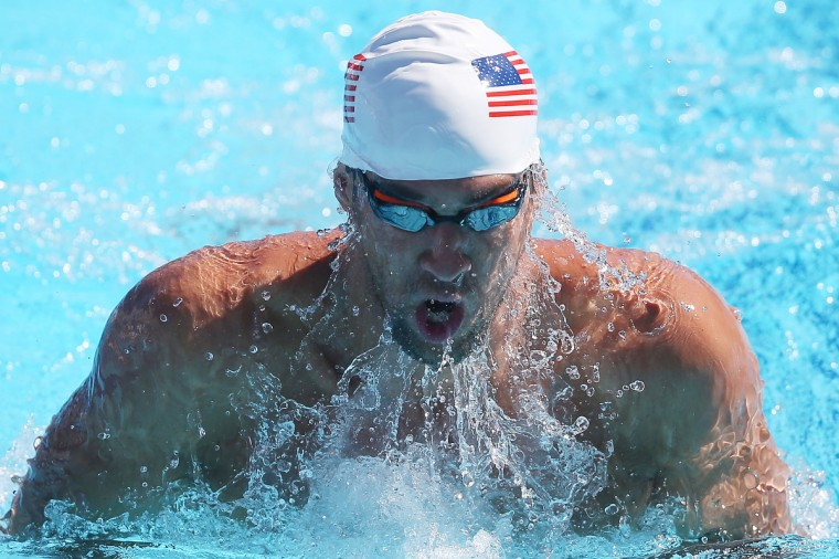 Michael Phelps swims during the Team USA squad training at the Gold Coast Aquatics Centre in Gold Coast, Australia. (Chris Hyde/Getty Images)