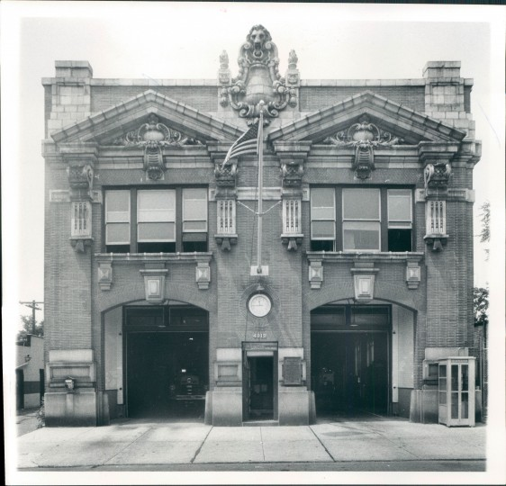 The Park Heights fire company, whose building is still standing today. (Baltimore Sun file photo)