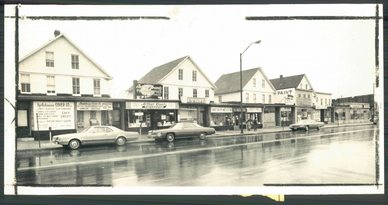 The 5200 block of Park Heights Avenue as seen in 1973. (Baltimore Sun file)