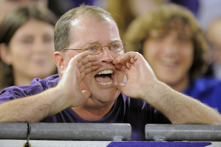 A Ravens fan disagrees with a call in favor of San Francisco as the Baltimore Ravens take on the San Francisco 49ers at M&T Bank Stadium in Baltimore, MD on Thursday, August 7, 2014. (Al Drago/Baltimore Sun)