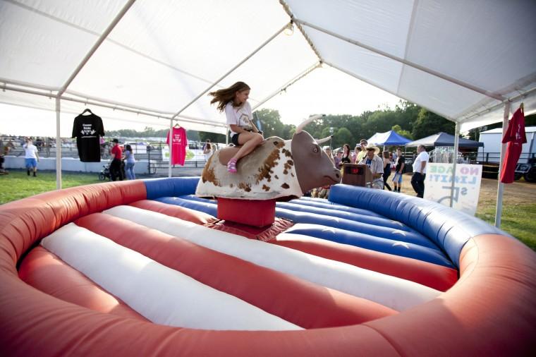 A mechanical bull during the Bull Blast at the Howard County Fair. (Jen Rynda/BSMG)