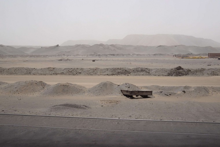 The Guelb mine site is seen in Zouerate June 24, 2014. (Joe Penney/Reuters)