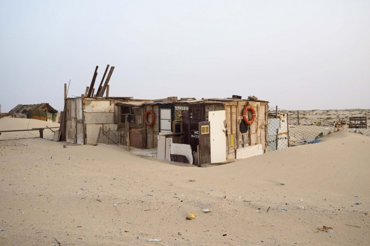 A house is seen on the beach in Nouadhibou June 25, 2014. (Joe Penney/Reuters)