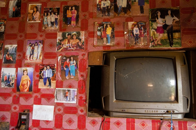 A television set is seen inside a house in the Bunong indigenous community in Mondulkiri, Cambodia. Cambodia's indigenous groups are at risk as their ancestral lands are being threatened by businesses interested in commercially developing the areas. On August 9, the UN focuses on the rights of the World's Indigenous People on International Indigenous People's Day. (Hannah Reyes/Getty Images)