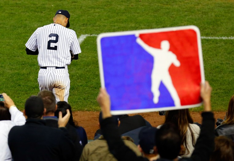 Derek Jeter #2 of the New York Yankees takes the field against the Baltimore Orioles during a game at Yankee Stadium on September 25, 2014 in the Bronx borough of New York City. (Mike Stobe/Getty Images)