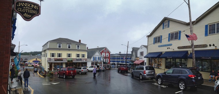 Downtown Boothbay Harbor, Maine on a drizzly afternoon. (Karl Merton Ferron/Baltimore Sun)