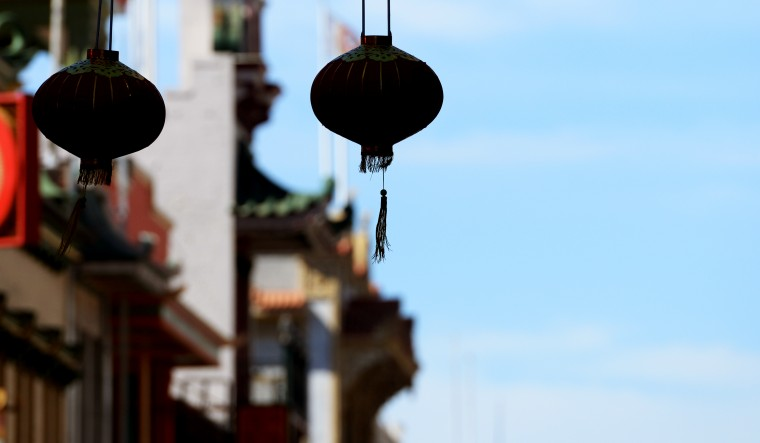 A Chinese lantern in Chinatown.