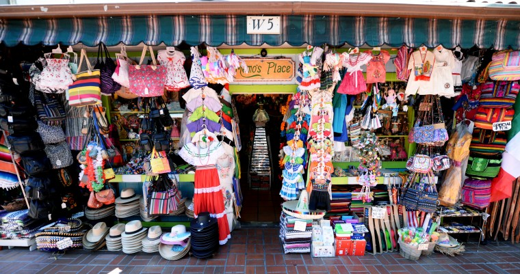 Olvera Street is the oldest neighborhood in Los Angeles, and it reminded me of the small towns set up for tourists in Playa del Carmen, Cancun.