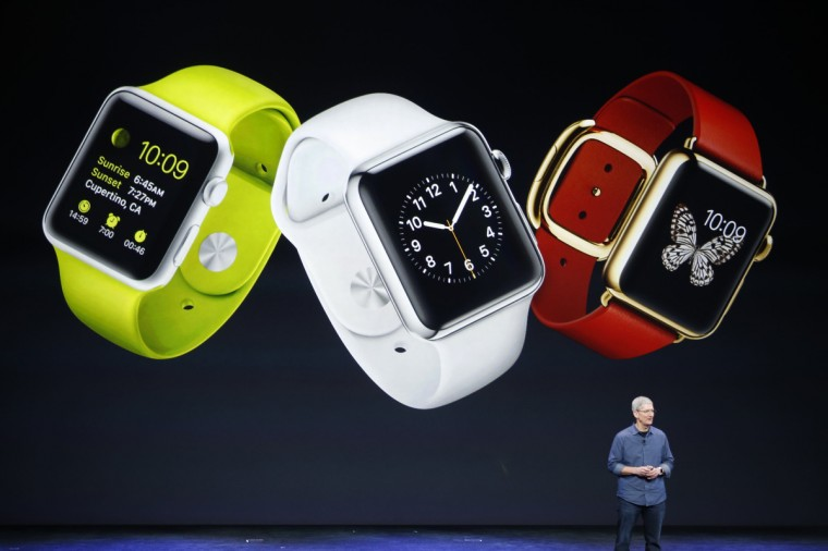 Apple CEO Tim Cook speaks about the Apple Watch during an Apple event at the Flint Center in Cupertino, California, September 9, 2014. Stephen Lam/Reuters photo
