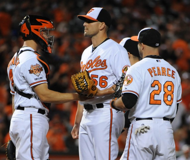 The Orioles clinched the American League East division by defeating the Blue Jays at Oriole Park at Camden Yards. (Kenneth K. Lam/Baltimore Sun)