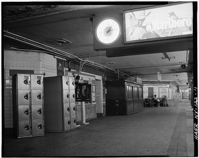 59th street station, Columbus Circle. Faience plaque depicting Christopher Columbis' ship. Interborough Rapid Transit Subway (Original Line), New York, New York County, NY. (Library of Congress)