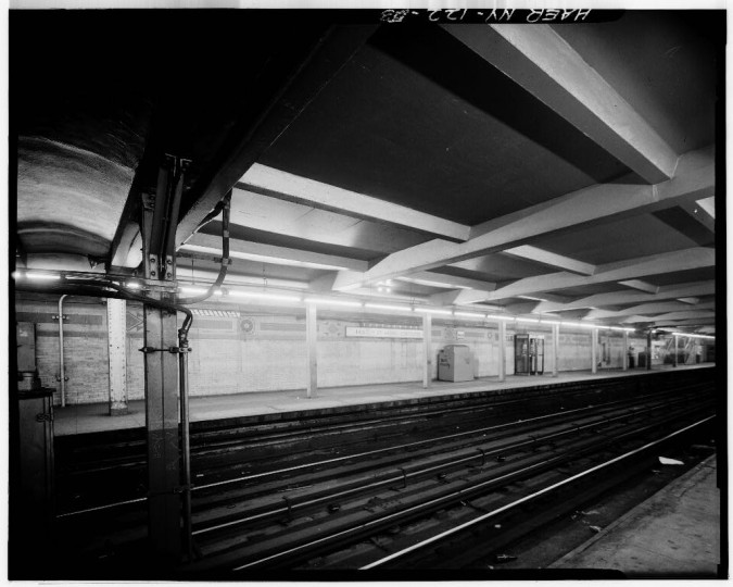 Mott Avenue Station, Interborough Rapid Transit Subway (Original Line), New York, New York County, NY. (Library of Congress)