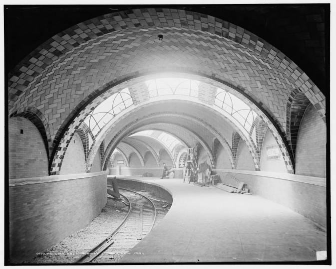 City Hall subway station, New York, between 1900 and 1906 (Detroit Publishing Company/Library of Congress)