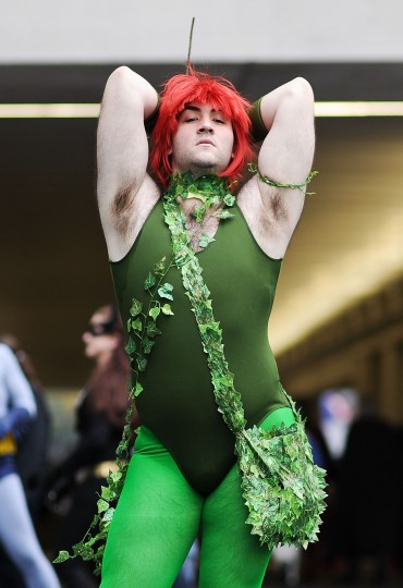A Comic Con attendee poses as Poison Ivy during the 2014 New York Comic Con at Jacob Javitz Center on October 11, 2014 in New York City. (Photo by Daniel Zuchnik/Getty Images)