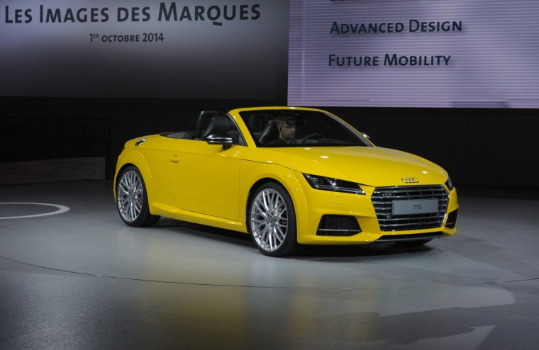 An Audi TTS is presented at the Volkswagen Group Night show in Paris prior to the opening on October 2nd of the Paris Auto show 2014 Press days. Eric Piermont/AFP/Getty Images