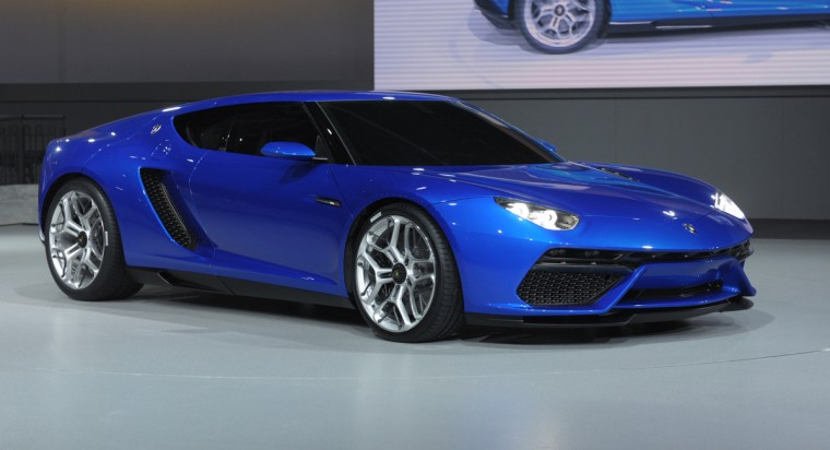 A Lamborghini Asterion is presented at the Volkswagen Group Night show in Paris prior to the opening on October 2 of the Paris Auto show 2014 Press days. Eric Piermont/AFP/Getty Images