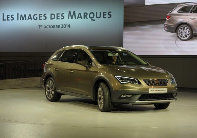 A Seat Leon X-Perience is presented at the Volkswagen Group Night show in Paris prior to the opening on October 2nd of the Paris Auto show 2014 Press days. Eric Piermont/AFP/Getty Images