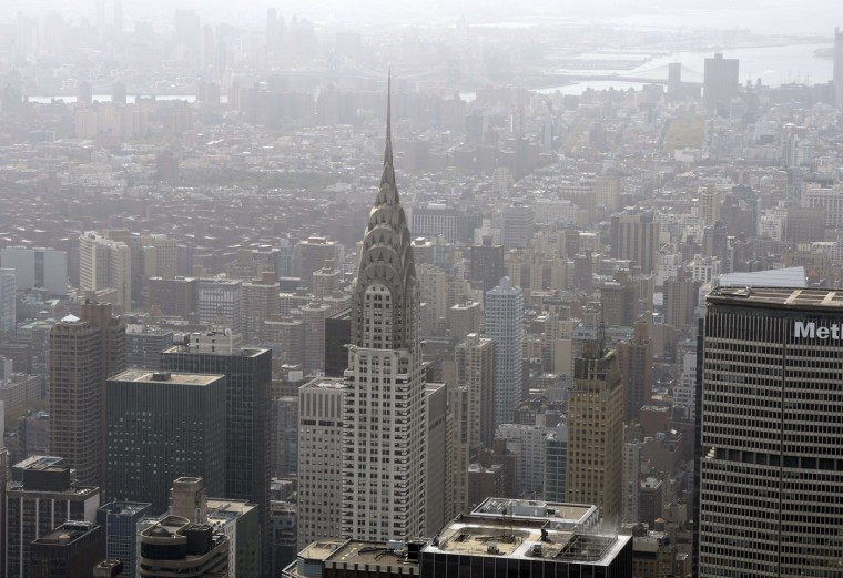 A view of New York City to the south from the 75th floor of 432 Park Avenue October 15, 2014 the day after it earned the distinction of being the country's tallest residential skyscraper. (Timothy A. Clary/AFP/Getty Images)