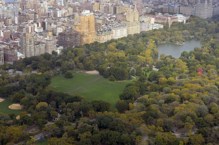 A view of New York city to to the north and Central Park from the 75th floor of 432 Park Avenue October 15, 2014 the day after it earned the distinction of being the country's tallest residential skyscraper. (Timothy A. Clary/AFP/Getty Images)