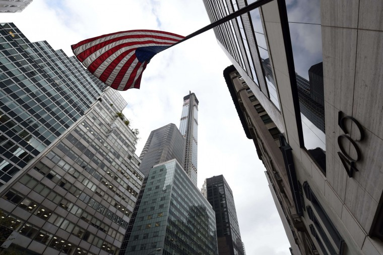 A view of 432 Park Avenue October 15, 2014 the day after it earned the distinction of being the country's tallest residential skyscraper. (Timothy A. Clary/AFP/Getty Images