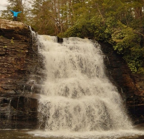 Standing on top of Muddy Creek Falls at Swallow Falls State Park in Garrett County on April 26, 2014.