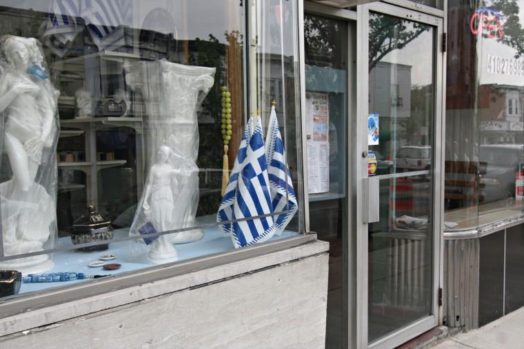5/1/08: Window front in Greektown. (Kathryn Whitney/Baltimore Sun)
