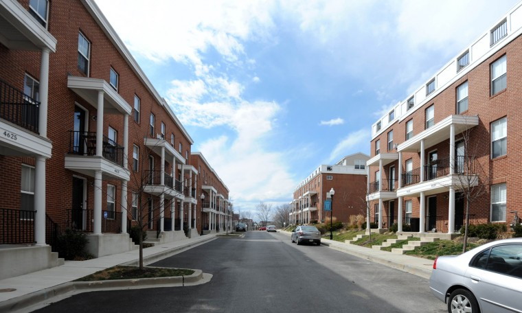 3/13/13: Athena Square, a new housing development at the south end of Greektown. (Kim Hairston/The Baltimore Sun)