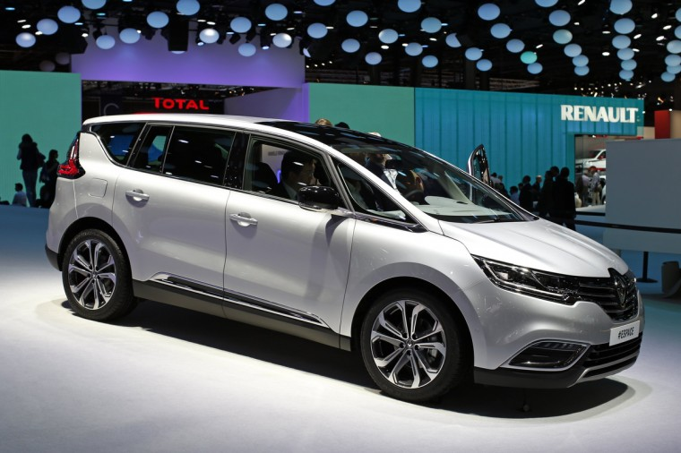 A new Renault Espace car is displayed on media day at the Paris Mondial de l'Automobile, October 2, 2014. The Paris auto show opens its doors to the public from October 4 to October 19. Benoit Tessier/Reuters photo