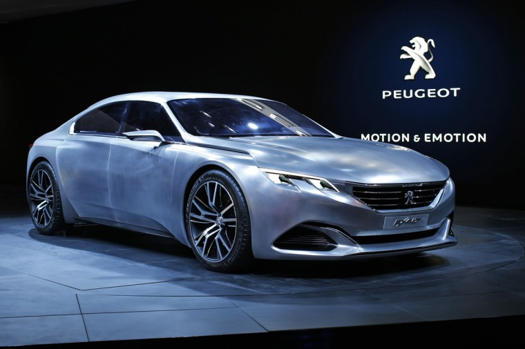 The Peugeot EXALT concept car is displayed on media day at the Paris Mondial de l'Automobile, October 2, 2014. The Paris auto show opens its doors to the public from October 4 to October 19. Benoit Tessier/Reuters photo