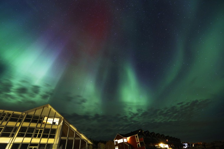An Aurora Borealis (Northern Lights) is seen at the Bals-Fiord north of the Arctic Circle, near the village of Mestervik late September 30, 2014. (Yannis Behrakis/Reuters)