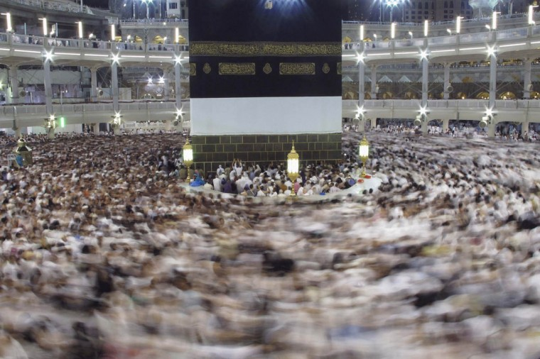 Muslim pilgrims pray around the holy Kaaba at the Grand Mosque, during the annual haj pilgrimage in Mecca. (Muhammad Hamed/Reuters)
