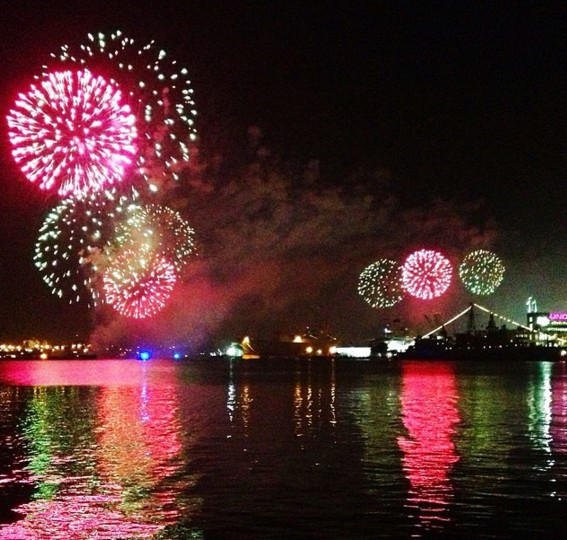 Spectacular fireworks display on Sept. 13, 2014 in Baltimore to celebrate @StarSpangled200.